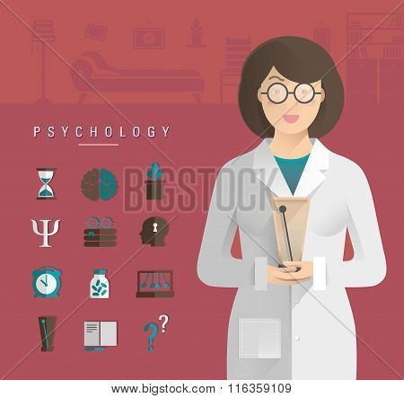 Women In A White Coat Psychologist.