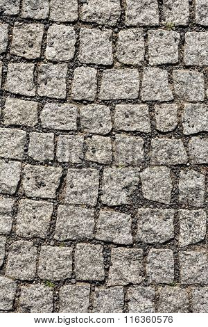 Old Cobble Stone Pattern At The Street