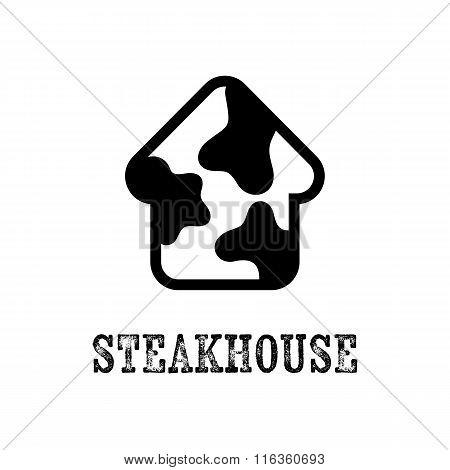 Simple Vector Steak House Icon