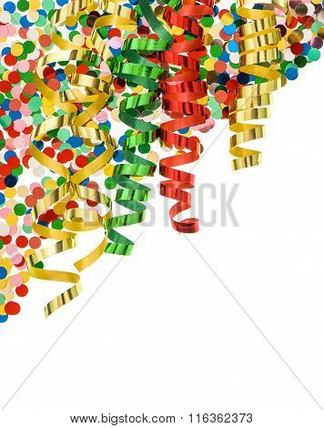 Confetti With Shiny Streamer. Party Decoration