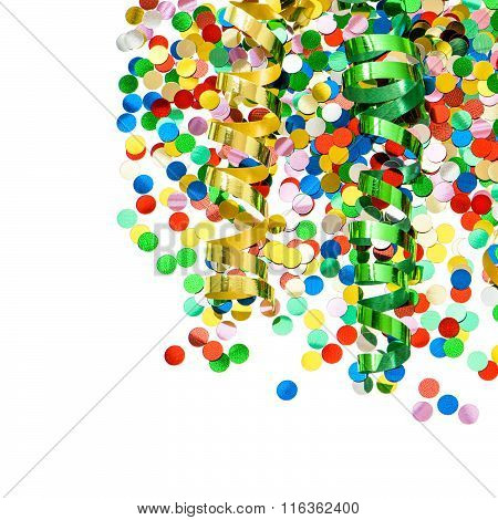 Party Decoration. Confetti With Shiny Streamer