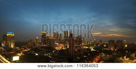 Jakarta City At Night
