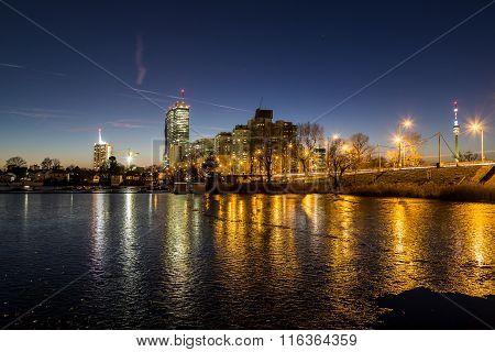 Alte Donau In Vienna In The Winter