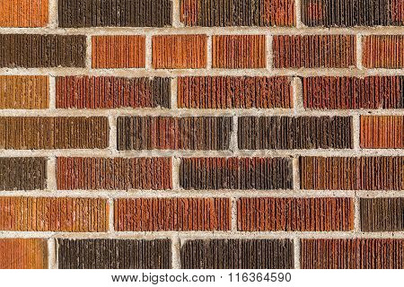 Multi Coloured Brick Wall Background