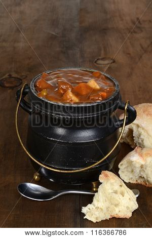 beef stew with bread