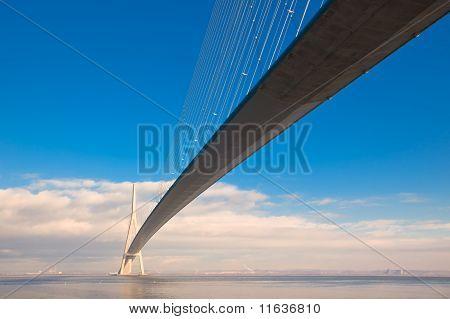 Normandy Bridge View (pont De Normandie, France)