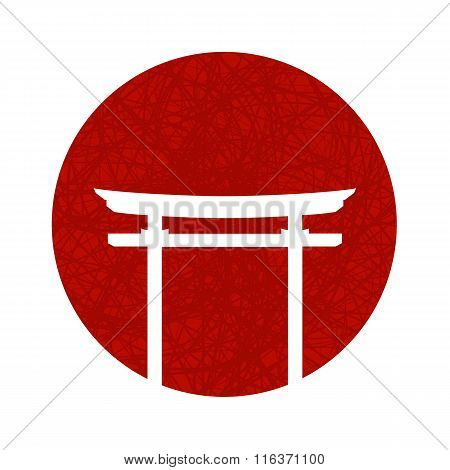Vector illustration with japanese gate