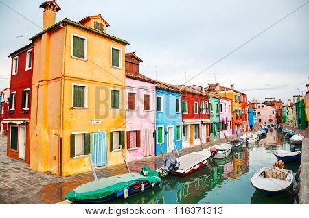 Overview Of The Burano Canal