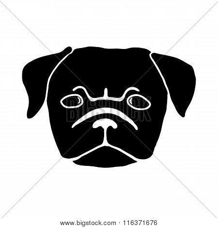 Pug puppy. Vector illustration