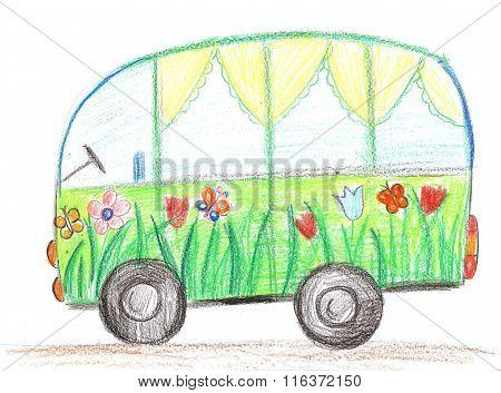 Child Drawing Car
