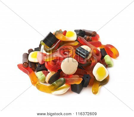 Pile of multiple colorful candies