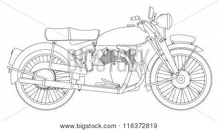 Motor Cycle Outline