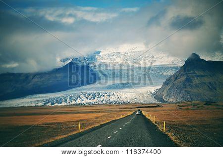 Vintage Road Trip In, Iceland