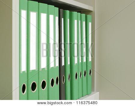One Black Among The Many Green Folder