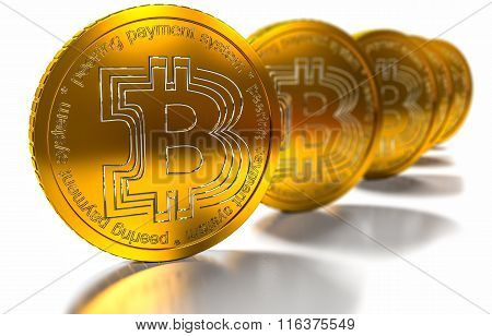 bit coin BTC the new virtual mone, 3d render