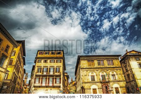 Buildings Around Santa Croce Square In Florence