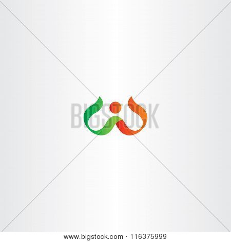Letter W Red Green Logo Symbol Vector
