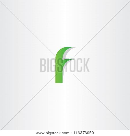 Logo F Green Letter F Vector Icon Sign Design