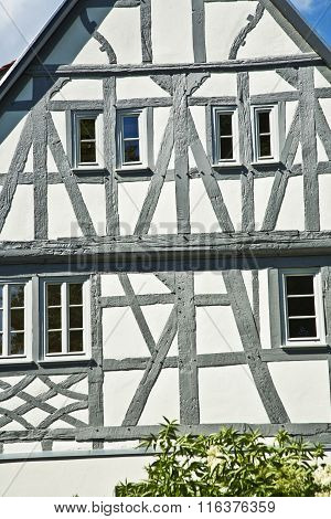 Old Renovated Half Timbered Houses