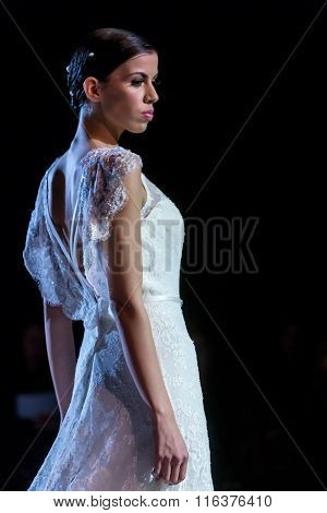 A Model Walks The Runway During Fashion Show 14Th Expo Wedding.