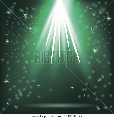 Green Rays of Magic Lights