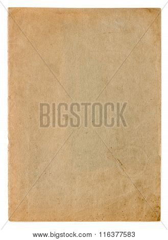 Used paper page texture. Vintage cardboard background