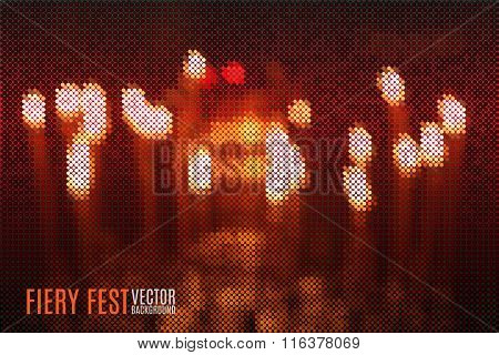 fiery vector background