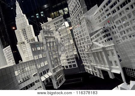 Manhattan Cut From Paper.