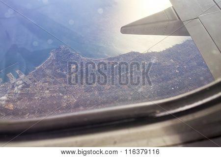 Aerialview Of Sea And Coast