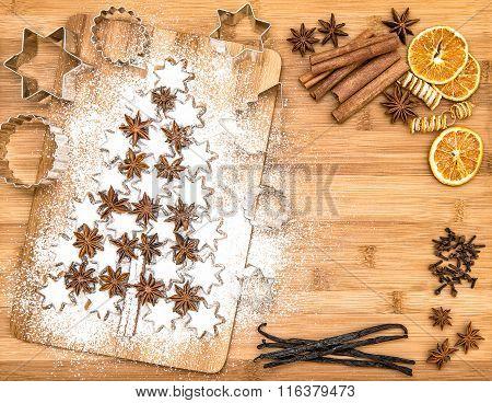 Christmas Cookies Cinnamon Stars Spices Vanilla Cinnamon