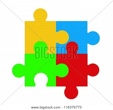 Puzzle vector illustration art on white background