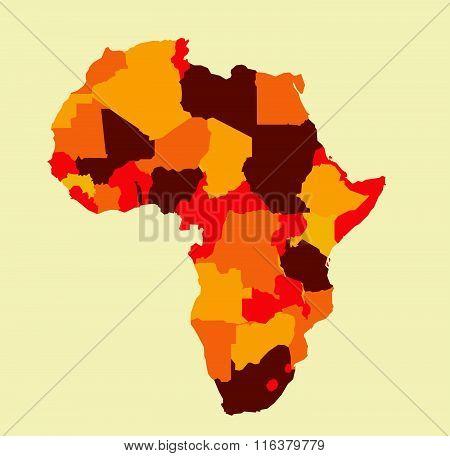 Africa map vector illustration art