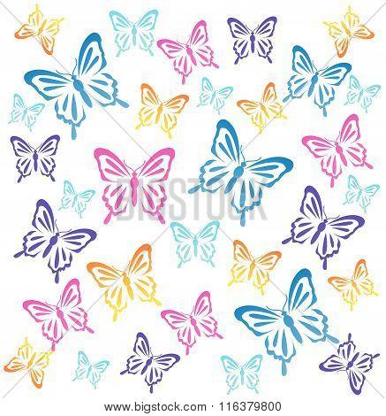 Butterflys. Vector illustration