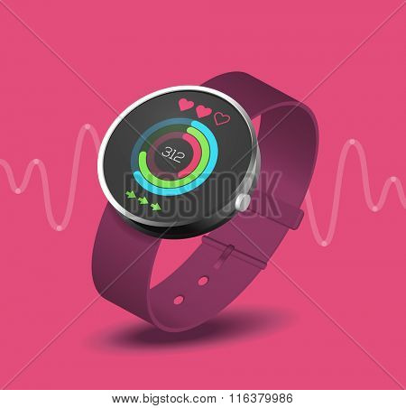 fitness application on smart watch wearable device