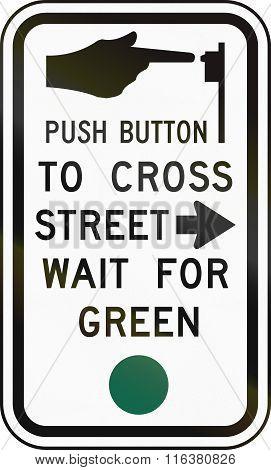 United States Mutcd Road Sign - Crosswalk Instructions
