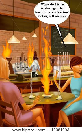 Inattentive Bartender