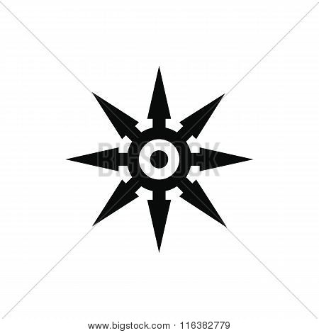 Shuriken black simple icon