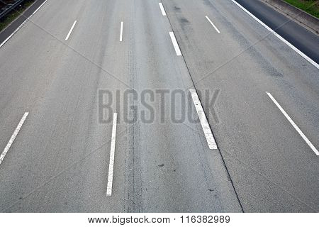 Empty Highway In Ther Morning Without Cars