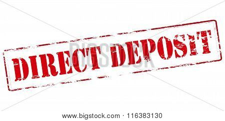 Rubber stamp with text direct deposit inside vector illustration