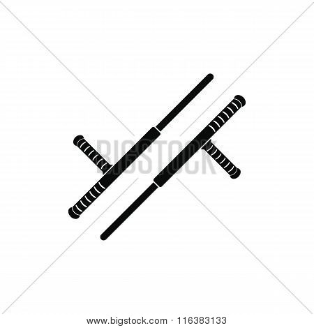 Tonfa weapon black simple icon