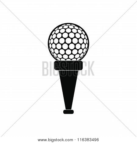 Golf ball on a tee icon