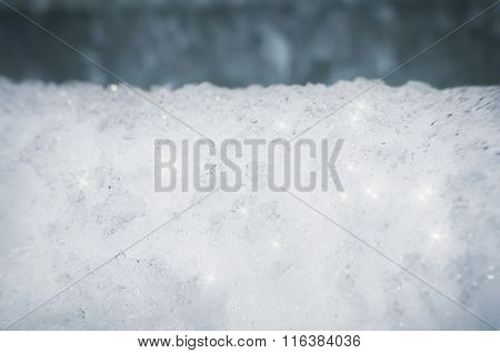 Snow Background Over Blue