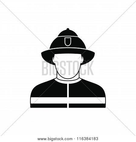 Fireman black simple icon