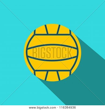 Yellow volleyball ball flat icon