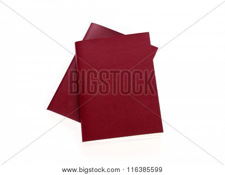 Blank passport  isolated on white background