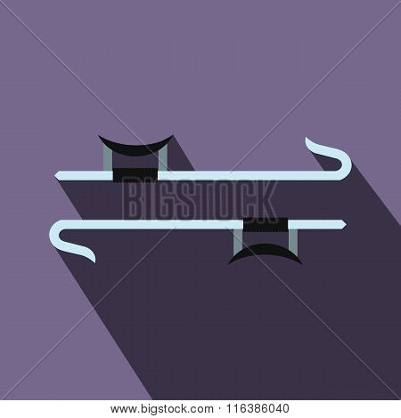 Ninja weapon flat icon