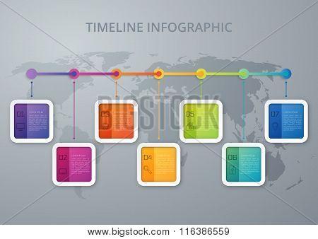 Vector illustration infographic timeline