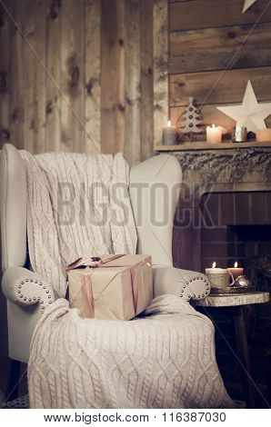 Gift Box On A Armchair
