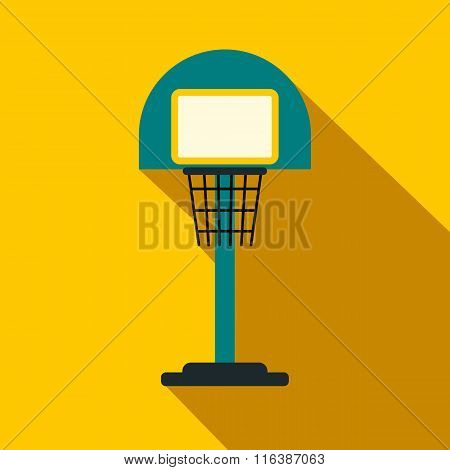 Basketball goal on a playground flat icon