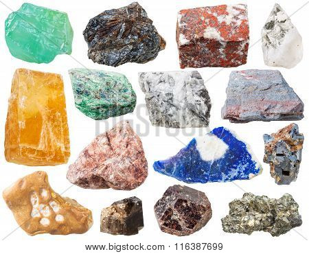 Many Mineral Rocks And Stones Isolated